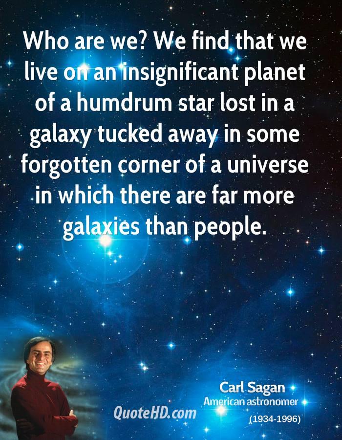 Quote Of Carl Sagan QuoteSaga Extraordinary Galaxy Quotes