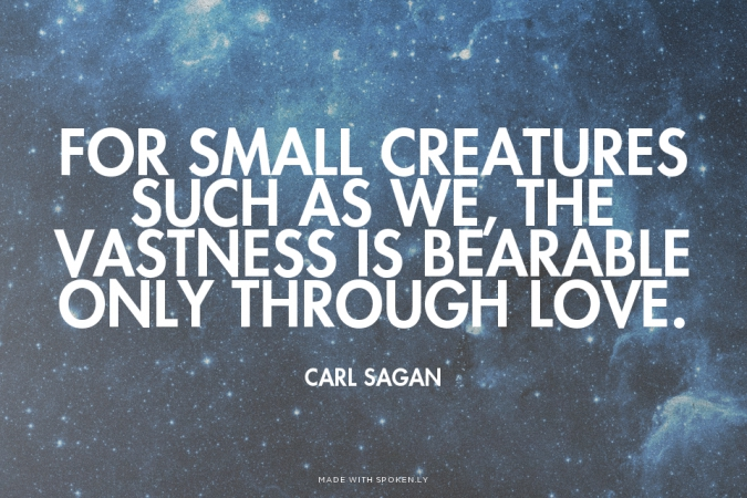 Carl Sagan Love Quote Cool Quote Of Carl Sagan  Quotesaga