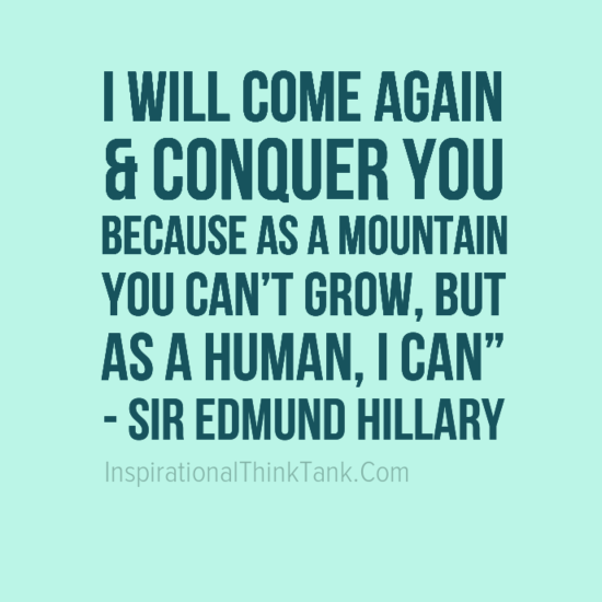 Quote Of Edmund Hillary Quotesaga