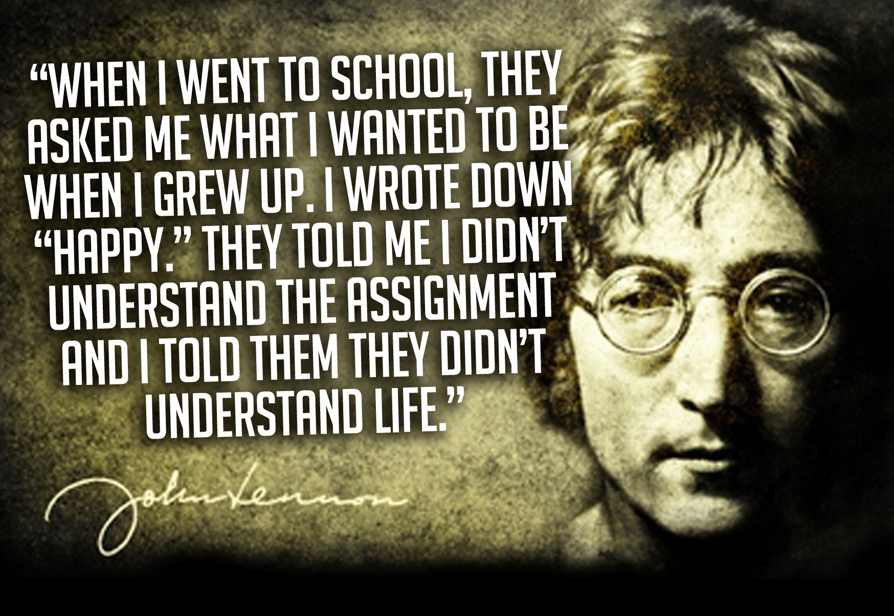 Quote Of John Lennon Quotesaga