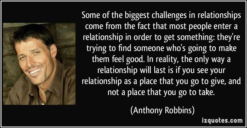 Anthony robbins relationship