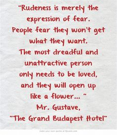 Grand Budapest Hotel Quotes Endearing Quote Of The Grand Budapest Hotel  Quotesaga